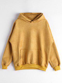 Drop Shoulder Front Pocket Hoodie - Ginger Xl