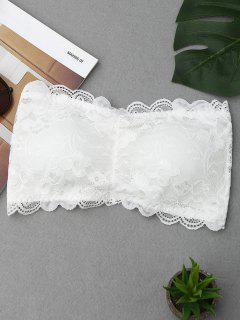 Scalloped Lace Tube Bra - Weiß