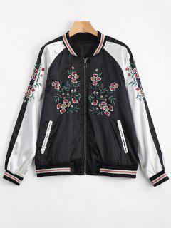 Embroidered Souvenir Jacket - Black M