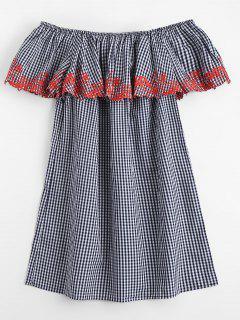 Vestido Bordado De Hombro - Comprobado M