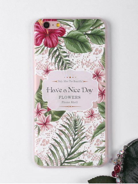 hot Tropical Flowers Pattern Phone Case For Iphone - WHITE FOR IPHONE 6 PLUS / 6S PLUS Mobile