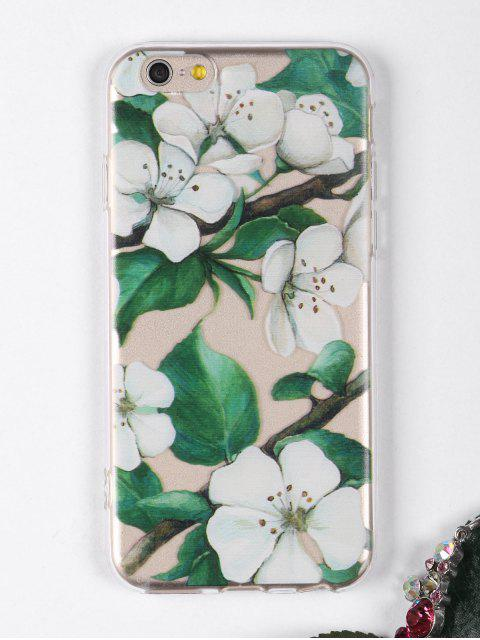 Flores, rama, patrón, teléfono, caso, iphone - Blanco PARA IPHONE 6 / 6S Mobile