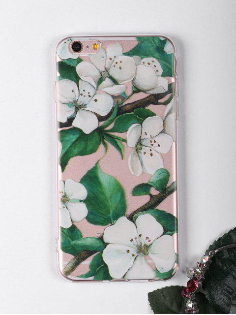 buy Flowers Branch Pattern Phone Case For Iphone - WHITE FOR IPHONE 6 PLUS / 6S PLUS Mobile