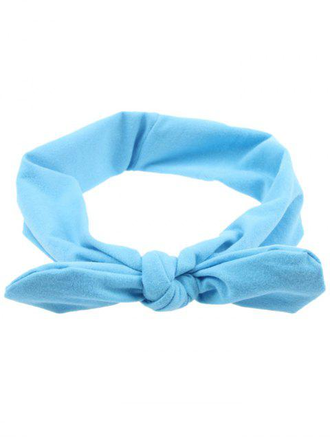 chic Multiuse Bows Elastic Hair Band - LIGHT BLUE  Mobile