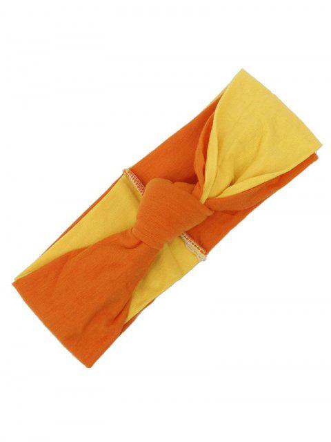 sale Two Tone Multiuse Elastic Hair Band - ORANGE  Mobile