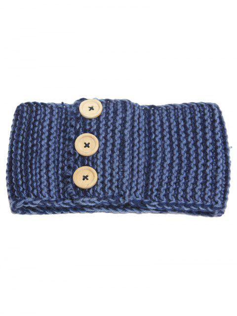 buy Warm Crochet Button Elastic Hair Band - CADETBLUE  Mobile