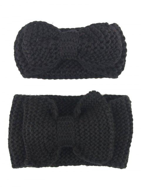 new Bows Crochet Mom and Kid Elastic Hair Band Set -   Mobile