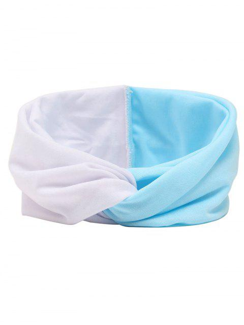 buy Elastic Multiuse Hair Band - BLUE AND WHITE  Mobile