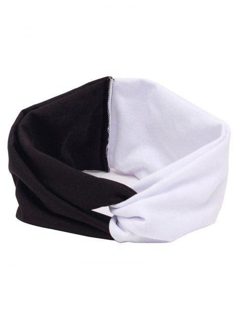 women Elastic Multiuse Hair Band - WHITE AND BLACK  Mobile