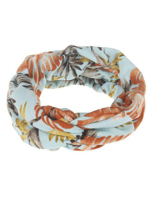 outfits Multiuse Leaf Printed Elastic Hair Band - #02  Mobile