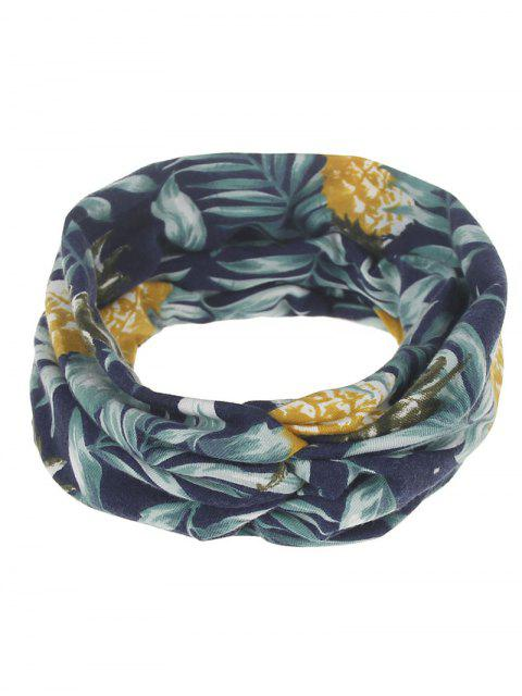 shop Multiuse Leaf Printed Elastic Hair Band - #03  Mobile