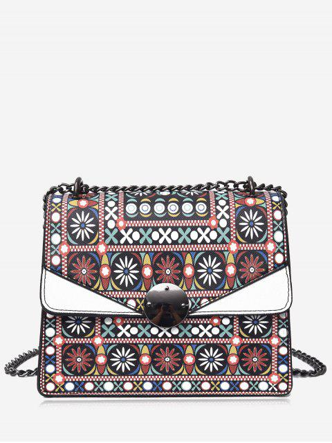 latest Chain Tribal Print PU Leather Crossbody Bag -   Mobile