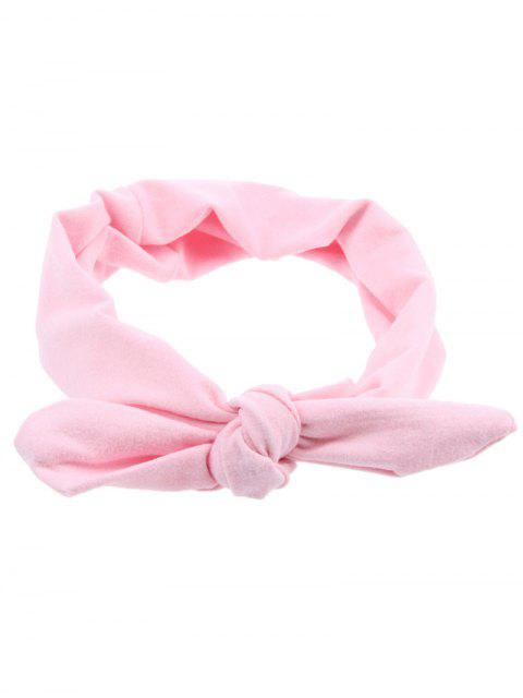 trendy Multiuse Bows Elastic Hair Band - PINK  Mobile
