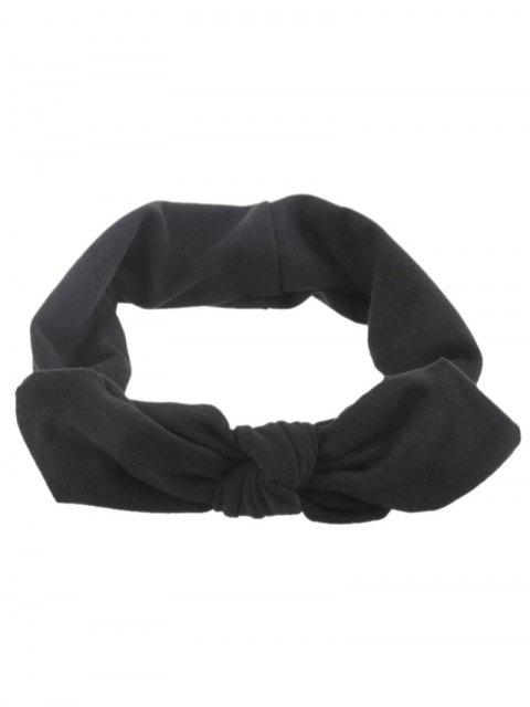 chic Multiuse Bows Elastic Hair Band - BLACK  Mobile