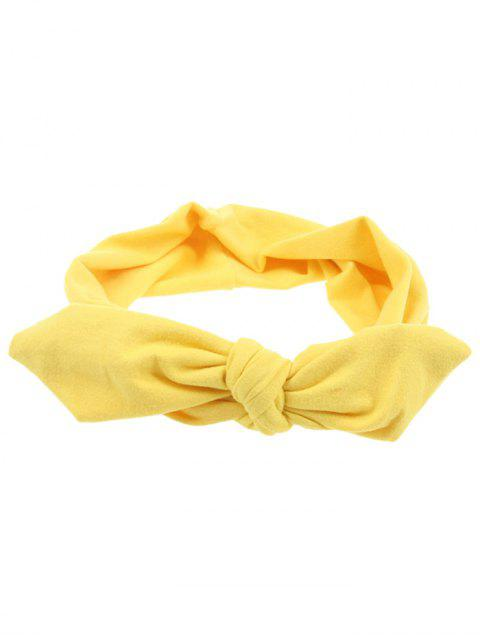 fancy Multiuse Bows Elastic Hair Band - YELLOW  Mobile