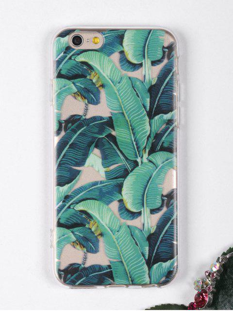 ladies Tropical Leaves Pattern Phone Case For Iphone - GREEN FOR IPHONE 6 / 6S Mobile