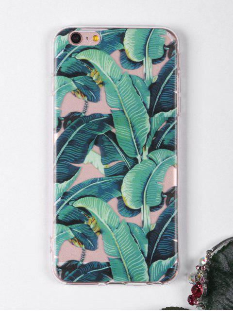 lady Tropical Leaves Pattern Phone Case For Iphone - GREEN FOR IPHONE 6 PLUS / 6S PLUS Mobile