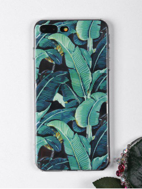 online Tropical Leaves Pattern Phone Case For Iphone - GREEN FOR IPHONE 7 PLUS Mobile