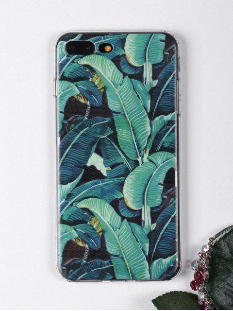 Handytasche mit Tropischem Blätter Muster für Iphone - Grün Für iPhone 7 PLUS Mobile