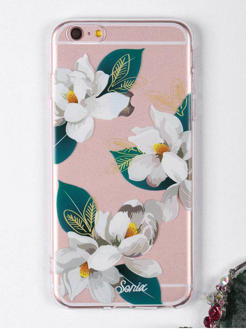 hot Flowers Leaf Pattern Phone Case For Iphone - WHITE FOR IPHONE 6 PLUS / 6S PLUS Mobile