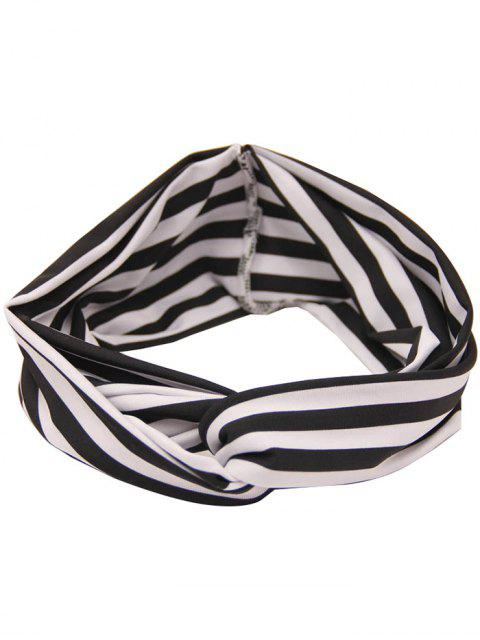 unique Two Tone Multiuse Striped Elastic Hair Band - STRIPE  Mobile
