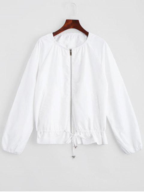 Zip-Up-Jacke mit unsichtbaren Taschen - Weiß L Mobile