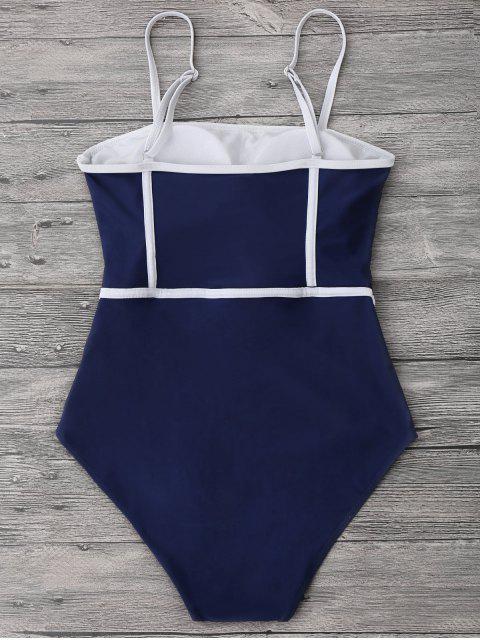 Cami Piping Traje de baño de una pieza - Azul Profundo XL Mobile