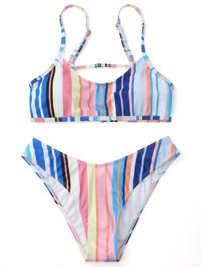 Striped Cami Bikini Set