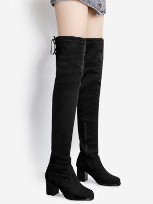 Suede Pointed Toe Over The Knee Boots