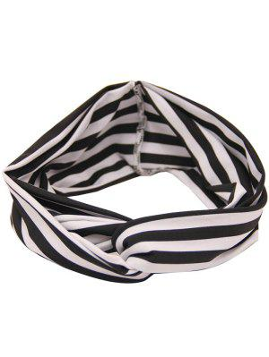 Two Tone Multiuse Striped Elastic Hair Band