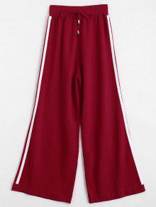 Pantalones Anchos Pantalones - Rojo