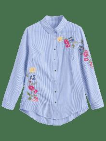 Raya Flojas Rayas La Las S Camisa Bordaron w76xx