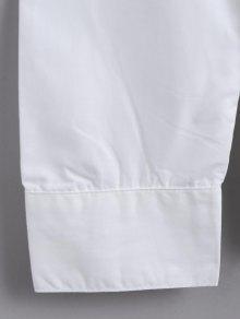 Abajo Bot Del Bordada Blanco 243;n Camisa S Suelta qzXwv