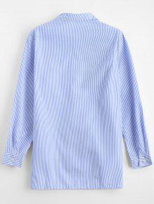 Bordada Camisa Baja Alta S Raya Rayada q6pwFtxpS