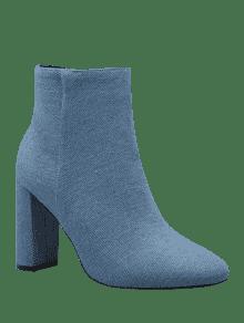 bottines en talon talon bleu bottes et bottines 39 zaful. Black Bedroom Furniture Sets. Home Design Ideas