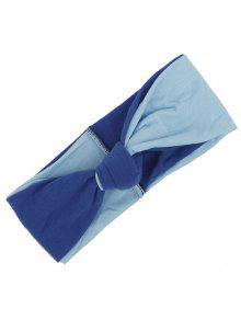 Faixa De Cabelo Elástico Multiusos De Dois Tons - Azul