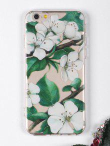 الزهور فرع نمط حالة الهاتف لفون - أبيض آيفون 6 / 6s