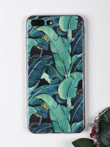أوراق الاستوائية نمط حالة الهاتف لفون - أخضر ل Iphone 7 Plus