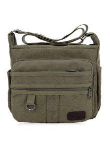 المعادن متعددة السوستة قماش حقيبة كروسبودي - أخضر