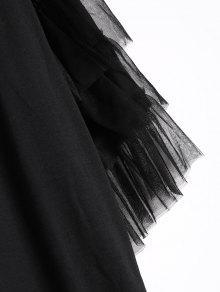 Con Volantes Vestido Negro Encaje De L waxqCE6