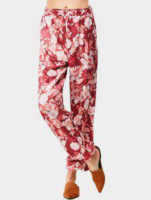 Pantalones De Cintura Alta Con Estampado Floral - Floral L