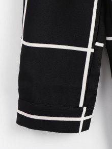 Camisa Negro A Bolsillo L Cuadros De Largo FTFrXqv