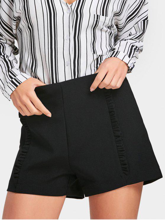 Pantalones cortos con cintura alta - Negro XS