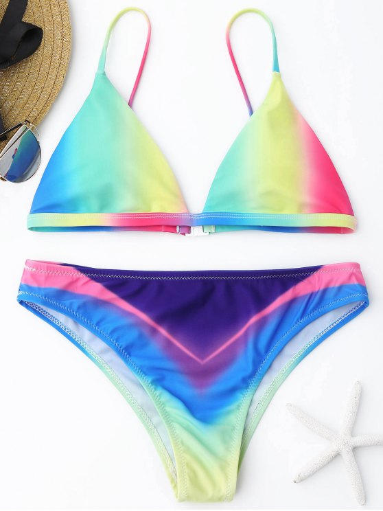 Ombre Bikini Set - Cor Mistura L