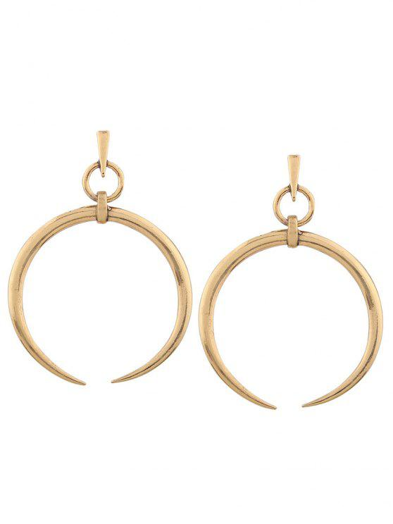 white buy shinningdiva golden and product earrings