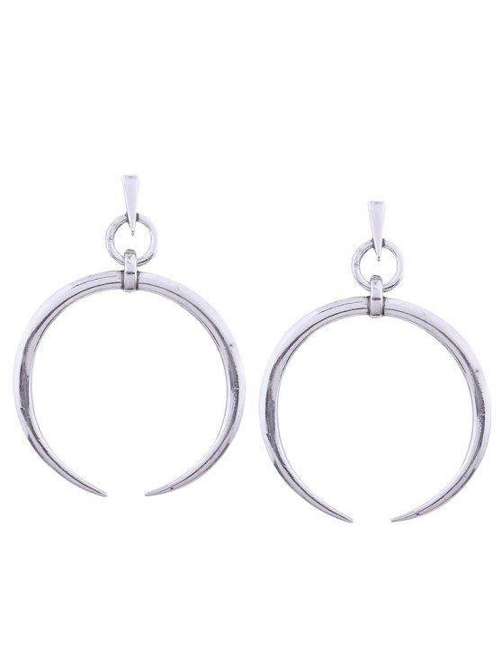 buy Alloy Tribal Moon Earrings - SILVER