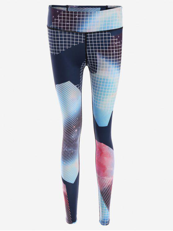Schlanke Yoga Leggings mit Muster - COLORMIX  S