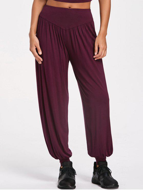 women's Sporty Bloomer Pants - BURGUNDY 2XL
