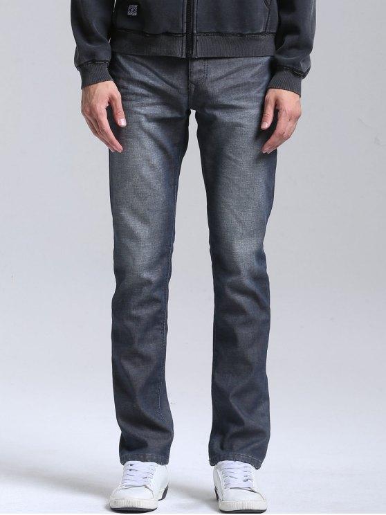 Straight Slim Fit Jeans - Azul 34