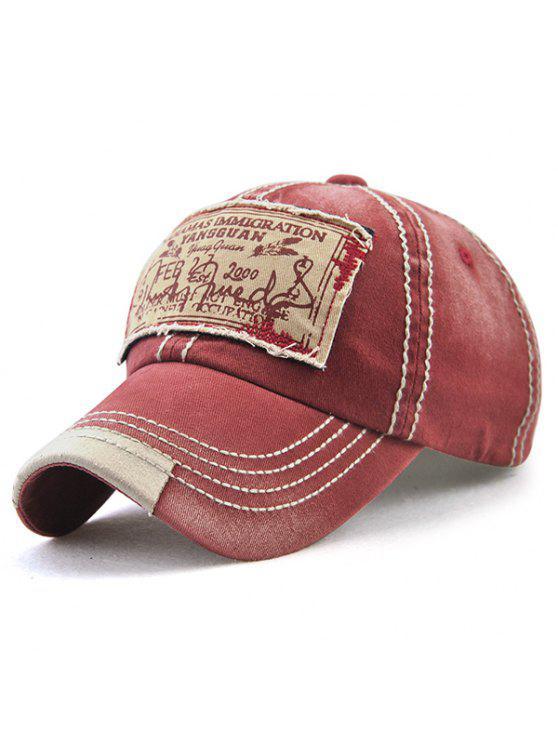 البهاما بخط اليد، الحروف، أبليك، إمبليشيد، قبعة البيسبول - نبيذ أحمر